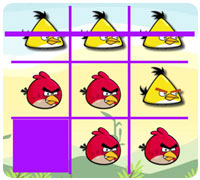 сердитые птицы крестики-нолики