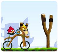 сердитые птицы месть на велосипеде