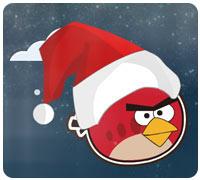 сердитые птицы на рождество