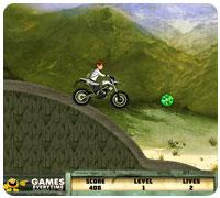 бен на мотоцикле