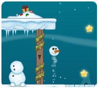 собери снеговика