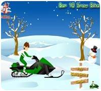 гонка на снегоходах