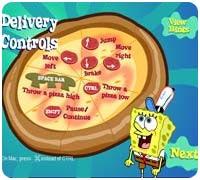 губка боб - разносчик пиццы