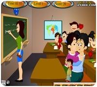 Поцелуи в школе Играть